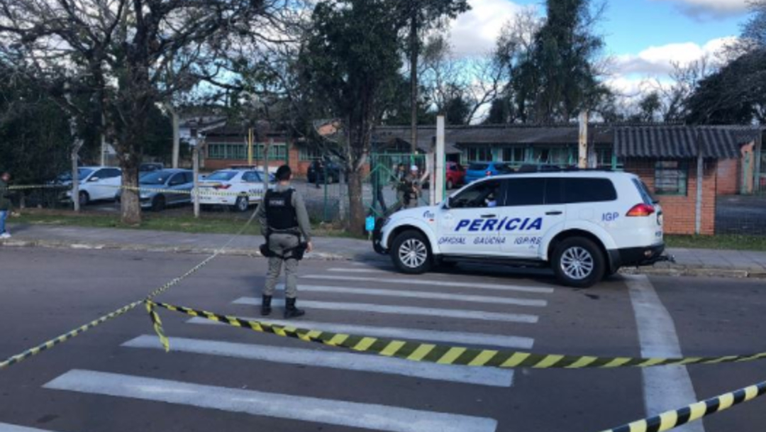 Foto: El ataque de hoy se produce cuatro meses después de la matanza en una escuela de Suzano, un municipio a 60 kilómetros de la ciudad de Sao Paulo, 21 de agosto de 2019 (Twitter@RdGuaibaOficial)