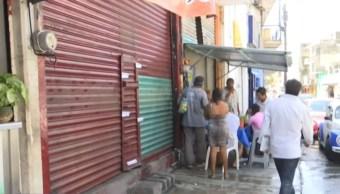 Foto: Los 4 trabajadores que resultaron heridos fueron llevados a un hospital, 31 de agosto de 2019. (Noticieros Televisa)