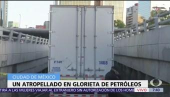 Atropellan a un hombre en Periférico y Paseo de la Reforma, CDMX