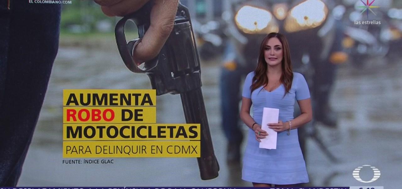 Aumenta robo de motocicletas para delinquir en CDMX