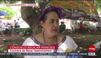 FOTO: Bazar gastronómico organizado por adultos mayores en Chiapas, 31 Agosto 2019