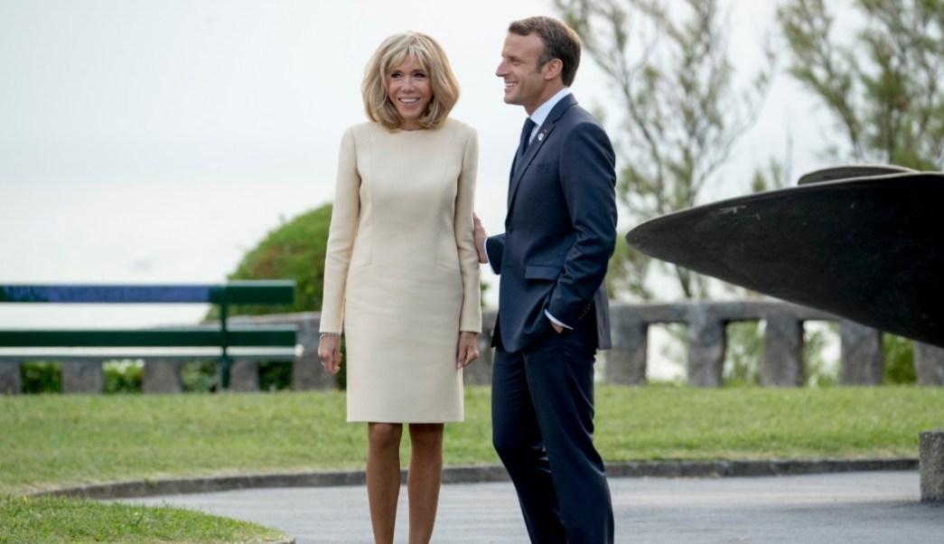 Foto: Emmanuel y Brigitte Macron, 24 de agosto de 2019, Francia