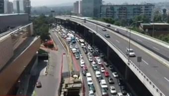 Foto: Policías federales bloquean Anillo Periférico, 29 de agosto de 2019, Ciudad de México