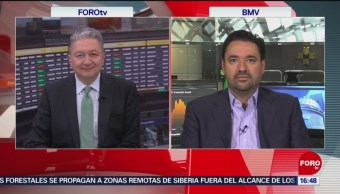 FOTO: Bolsa Mexicana cae por arancel Trump China