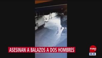 Cámaras captan asesinato de dos personas en Naucalpan, Edomex