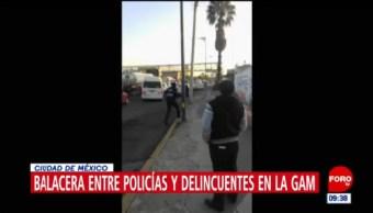 Captan balacera entre policías y delincuentes en la GAM