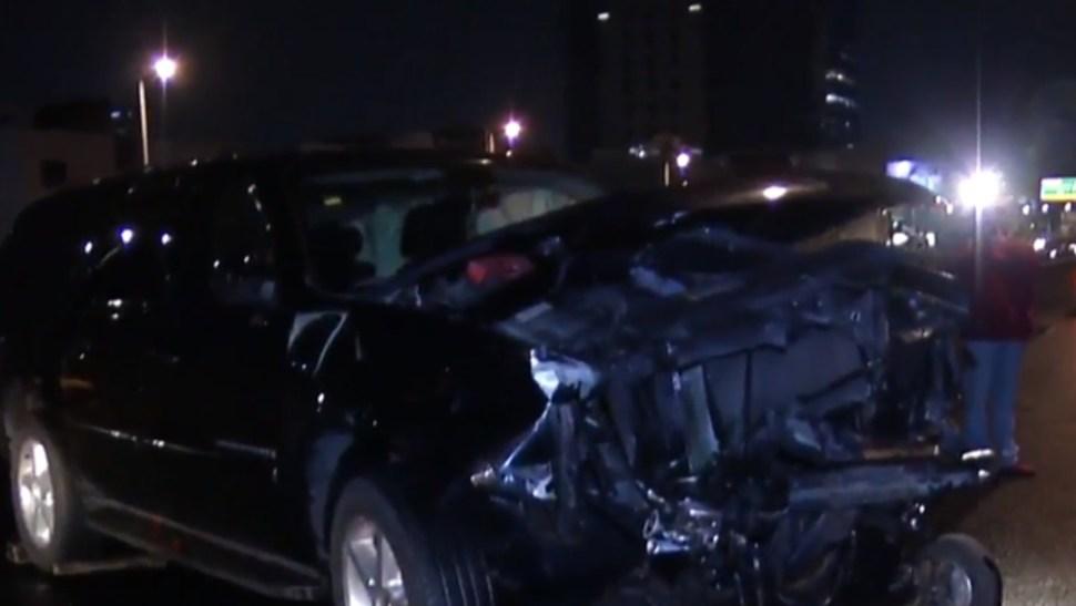 Foto: Choque de camioneta en el Periférico, 5 de agosto de 2019, Ciudad de México