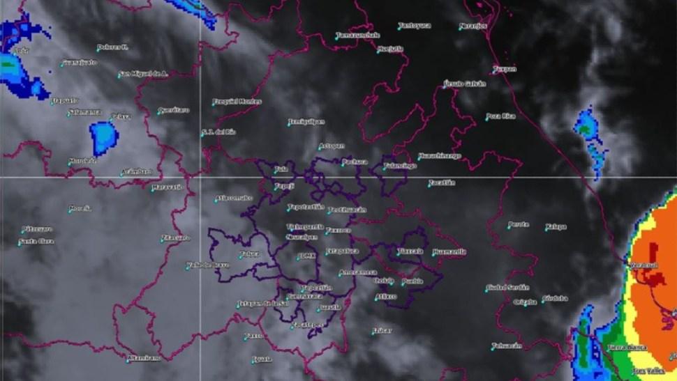 Foto: La imagen de satélite muestra cielo nublado en el centro del país, 11 de agosto de 2019 (SMN)