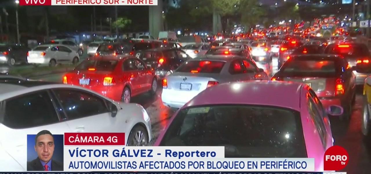 Foto: Colapsada Circulación Periférico Sur Cdmx Bloqueo Hoy 29 Agosto 2019