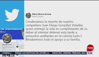 FOTO: Condenan muerte de un agente en León, Guanajuato, 10 Agosto 2019