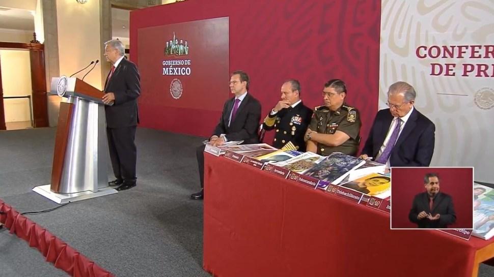 Foto: El presidente de México, Andrés Manuel López Obrador, ofrece una conferencia de prensa acompañado de algunos secretarios de su gabinete, 15 agosto 2019