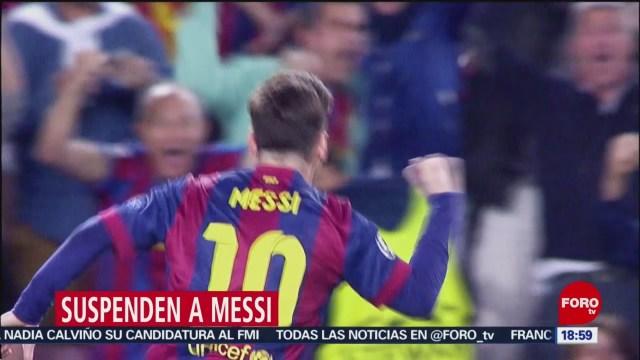 FOTO: Conmebol Suspende Por Tres Meses Lionel Messi