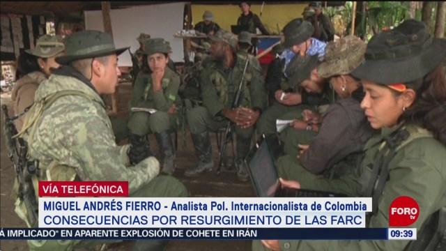 FOTO: Consecuencias por resurgimiento de las FARC, 31 Agosto 2019