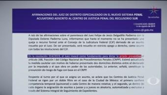 Foto: Consejo Judicatura Federal Defiende Sobrino Padierna 16 Agosto 2019