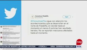 FOTO: Consulado Mexicano en Filadelfia no reporta mexicanos heridos en tiroteo 14 agosto 2019