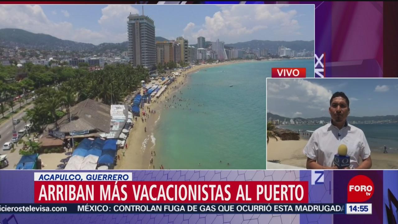Foto: Continúa arribo vacacionistas puerto Acapulco