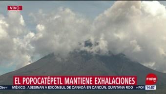 FOTO: Continúa Actividad Volcánica Popocatépetl