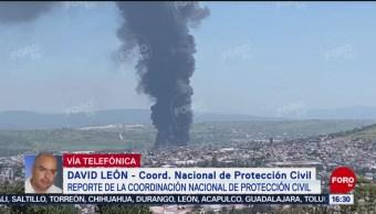 FOTO: Controlado Incendio Fábrica Michoacán,