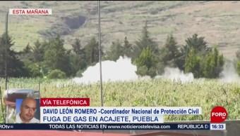 FOTO: Controlan Fuga De Gas Por Toma Clandestina Acajete Puebla