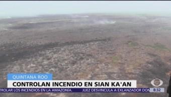 Controlan incendio en Reserva de la Biósfera de Sian Ka'an