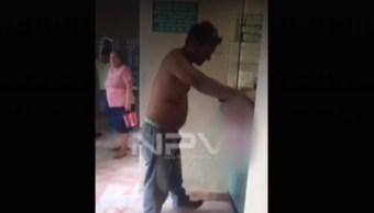 FOTO Denuncian que IMSS negó atención a hombre que se desangraba (FOROtv/NPV)