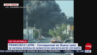FOTO: Desalojan a mil personas por incendio en bodega de Nuevo León, 18 Agosto 2019