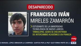Foto: Desaparece Estudiante Intercambio Tamaulipas Francia 2 Agosto 2019