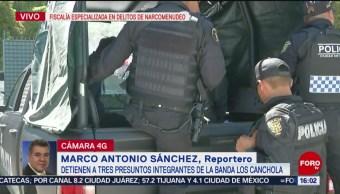 FOTO:Detienen a 3 presuntos integrantes de la banda 'Los Canchola', 31 Agosto 2019