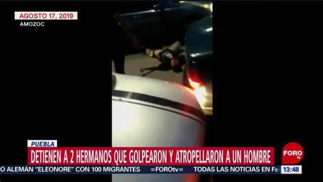 FOTO: Detienen Hermanos Que Golpearon Atropellaron Hombre Puebla