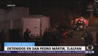 Detienen a presuntos criminales en San Pedro Mártir, Tlalpan