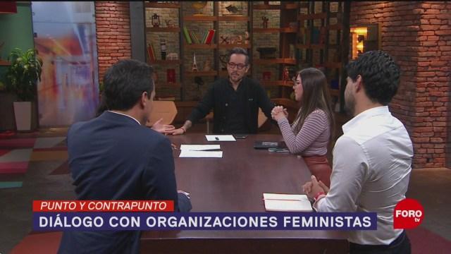 Foto: Diálogo Feministas Claudia Sheinbaum Protestas 15 Agosto 2019