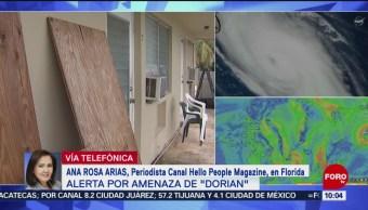FOTO: 'Dorian' muestra irregularidad en su trayectoria, 31 Agosto 2019