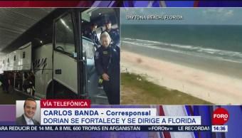 FOTO: Dorian Se Fortalece Paso Florida