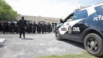 Los policías de Fuerza Civil repelieron el ataque y persiguieron a los delincuentes, 16 de agosto de 2019 (Twitter @SSPNuevoLeon)