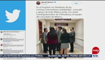 Foto: Ebrard se reúne familiares víctimas tiroteo, 5 de Agosto de 2019