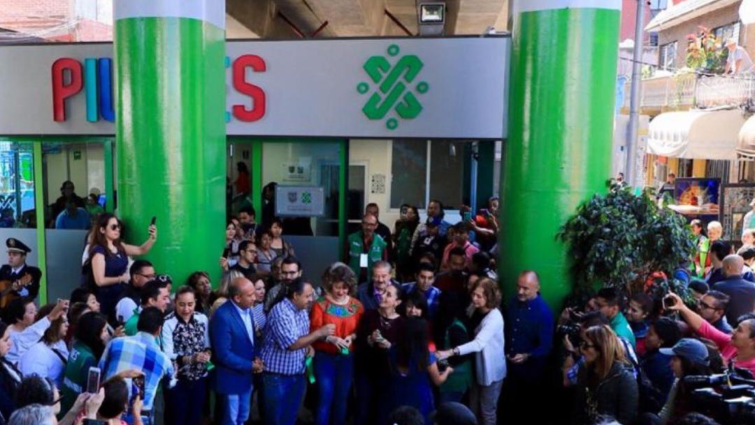 Foto: Claudia Sheinbaum en la inauguración del centro PILARES, 31 de agosto de 2019 (Twitter @ClaudiaShein)