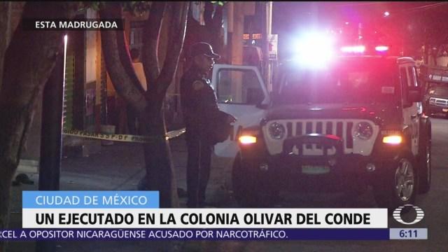 Ejecutan a hombre en la colonia Olivar del Conde, CDMX