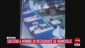 Ejecutan a hombre en restaurante de Hermosillo, Sonora