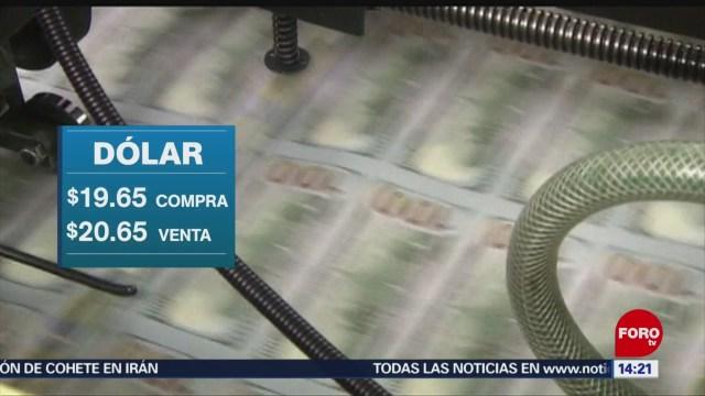 FOTO: El dólar se ubica en $19.65 pesos este sábado, 31 Agosto 2019