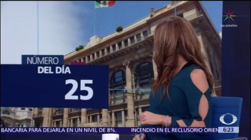 El número del día: 25