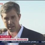 FOTO: El precandidato presidencial Beto O'Rourke condena tiroteo en Texas, 4 Agosto 2019