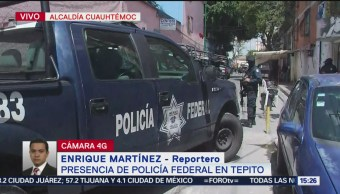 Foto: Elementos Policía Federal investigan predio Tepito