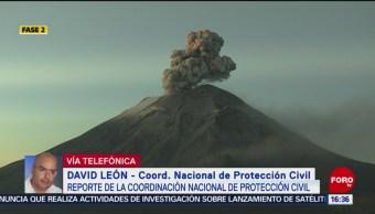 FOTO: Últimas 24 Horas Volcán Popocatépetl Registra 172 Exhalaciones