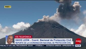 FOTO: volcán Popocatépetl registra intensa actividad
