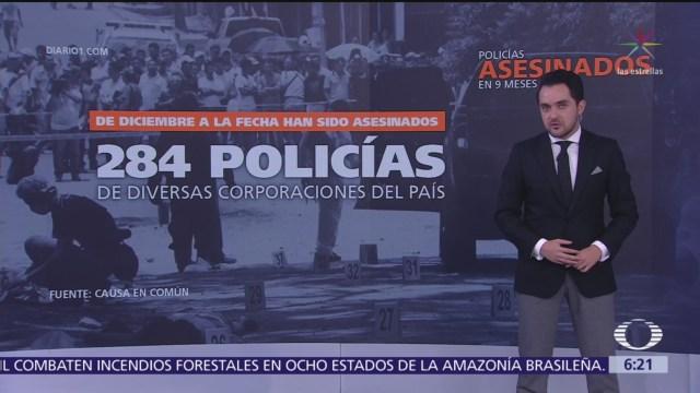 En México, asesinan a 284 policías en 9 meses