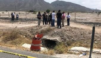 Lugar donde encontraron el cuerpo del bebé. (Twitter: @torreon)