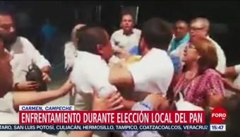 FOTO: Enfrentamiento Durante Elección Local PAN Campeche