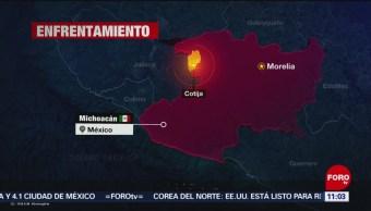 Enfrentamiento en Cotija, Michoacán, deja un muerto