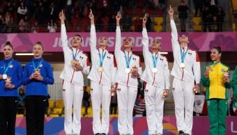Foto: Equipo de gimnasia rítmica de México, 4 de agosto de 2019, Lima, Perú