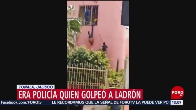 FOTO: Era policía la persona que golpeó a ladrón como piñata en Tonalá